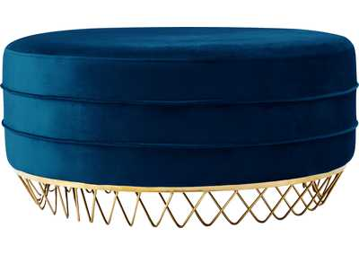 Image for Revolve Navy Velvet Ottoman/Coffee Table