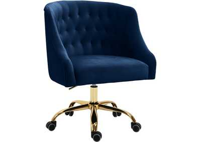 Arden Navy Velvet Office Chair
