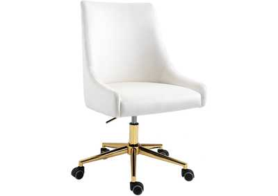 Karina Cream Velvet Office Chair