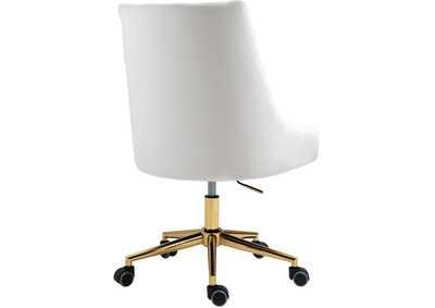 Karina Cream Velvet Office Chair Dream, Home Goods Chairs On Wheels