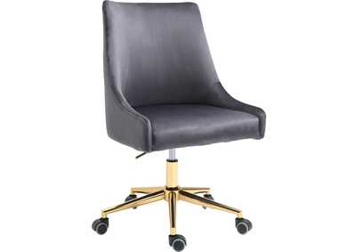 Karina Grey Velvet Office Chair