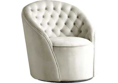 Image for Alessio Cream Velvet Accent Chair