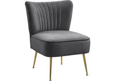 Image for Tess Grey Velvet Accent Chair