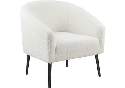 Image for Barlow White Faux Sheepskin Fur Accent Chair