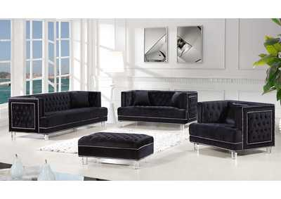 Image for Lucas Black Velvet Sofa and Loveseat