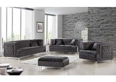 Image for Lucas Grey Velvet Sofa and Loveseat