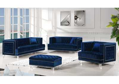 Image for Lucas Navy Velvet Sofa and Loveseat