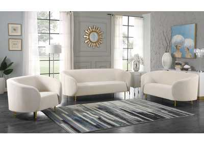Image for Lavilla Cream Velvet Sofa and Loveseat