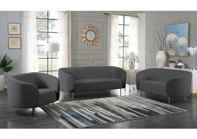 Image for Lavilla Grey Velvet Sofa and Loveseat