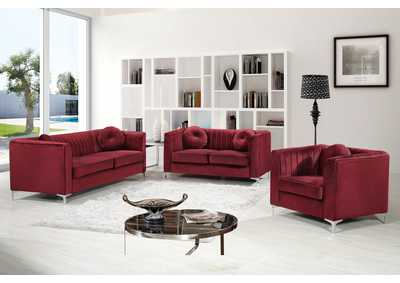 Image for Isabelle Burgundy Velvet Sofa and Loveseat
