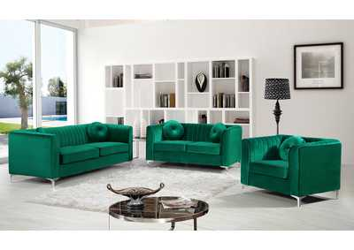 Image for Isabelle Green Velvet Sofa and Loveseat