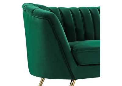Image for Margo Green Velvet Sofa and Loveseat
