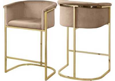 Image for Donatella Beige Velvet Stool