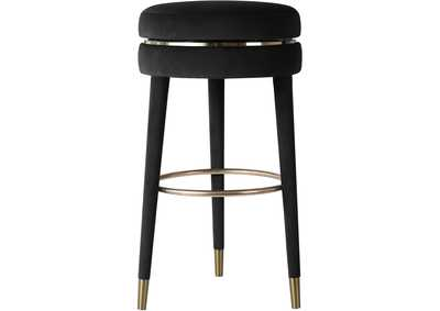 Image for Coral Black Velvet Counter Stool [Set of 2]