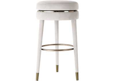 Image for Coral Cream Velvet Counter Stool [Set of 2]