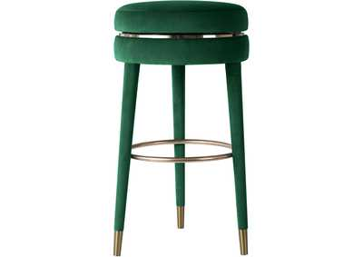 Image for Coral Green Velvet Counter Stool [Set of 2]