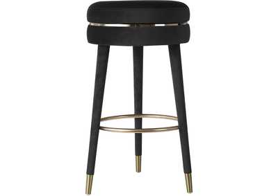 Image for Coral Black Velvet Bar Stool [Set of 2]