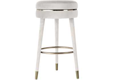 Image for Coral Cream Velvet Bar Stool [Set of 2]