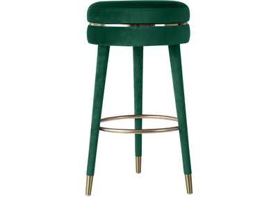 Image for Coral Green Velvet Bar Stool [Set of 2]