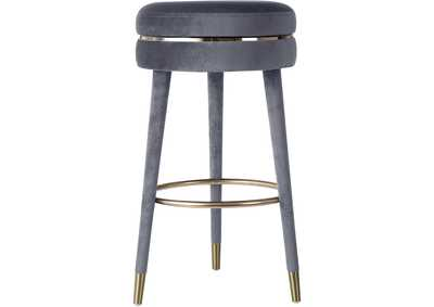 Image for Coral Grey Velvet Bar Stool [Set of 2]