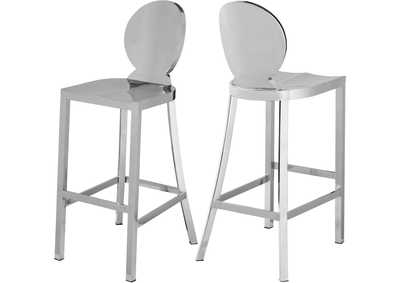 Image for Maddox Chrome Stool [Set of 2]
