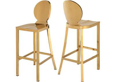 Image for Maddox Gold Stool [Set of 2]