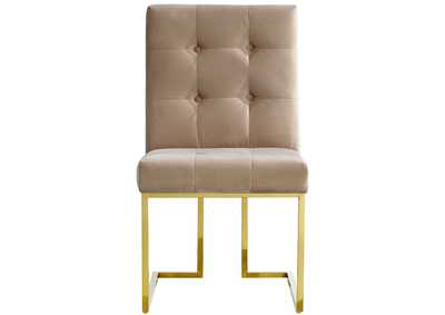 Image for Pierre Gold Dining Table w/4 Beige Chair
