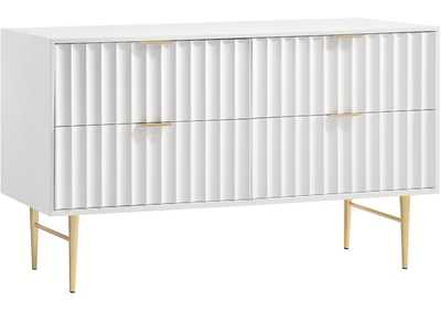 Image for Modernist White Gloss Dresser