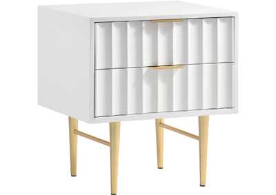 Image for Modernist White Gloss Night Stand