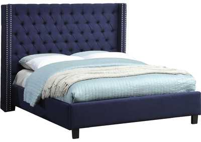 Image for Ashton Navy Linen King Bed