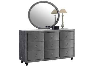 Image for Hudson Grey Velvet Dresser