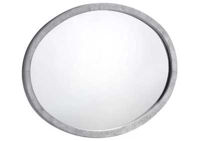 Image for Hudson Grey Velvet Mirror