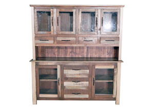 Image for Slatted Wood Medium 2 Piece China Cabinet