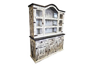 Image for White Scraped Medium 2 Piece China Cabinet