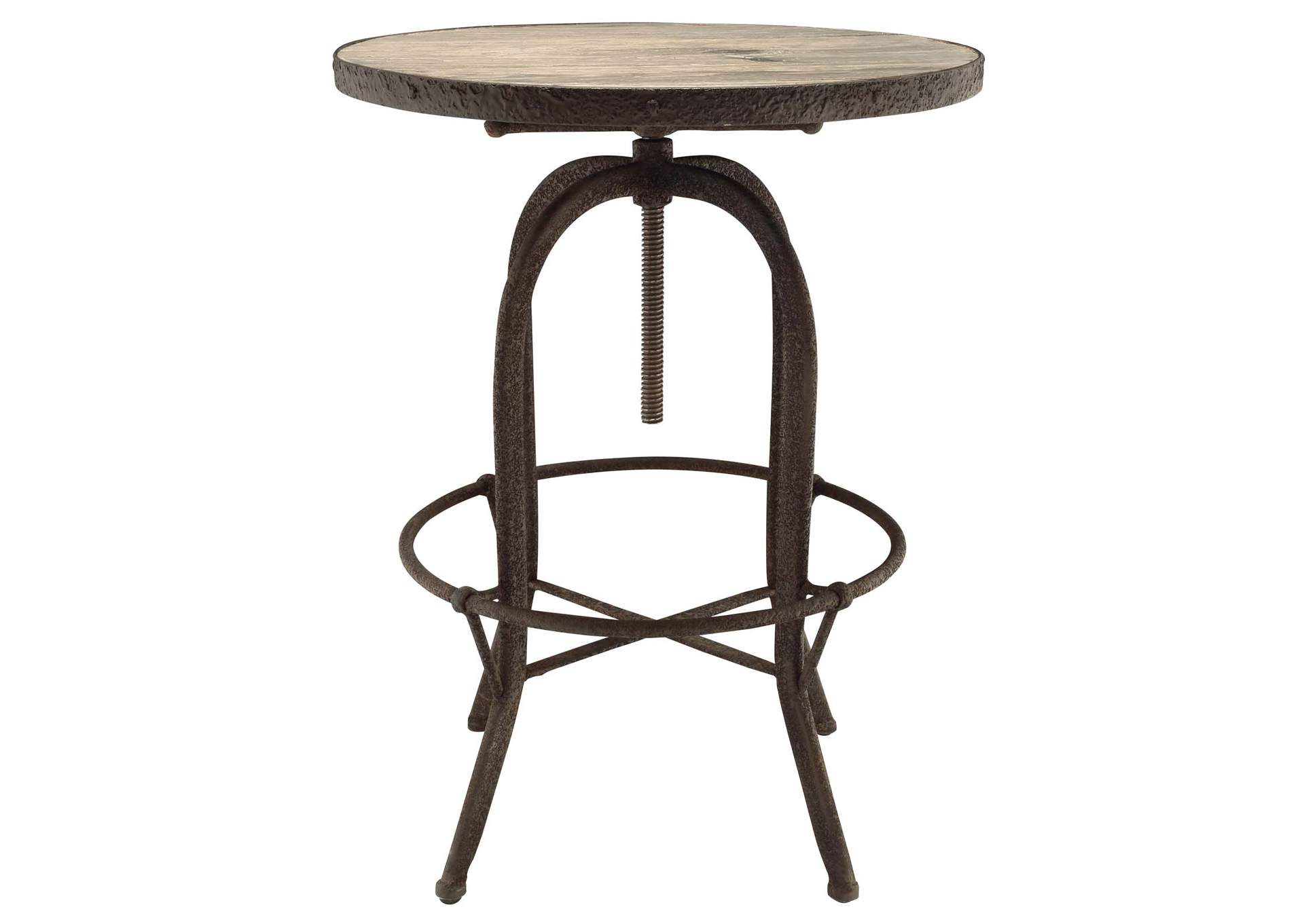 Sylvan Brown Wood Top Bar Table,Modway