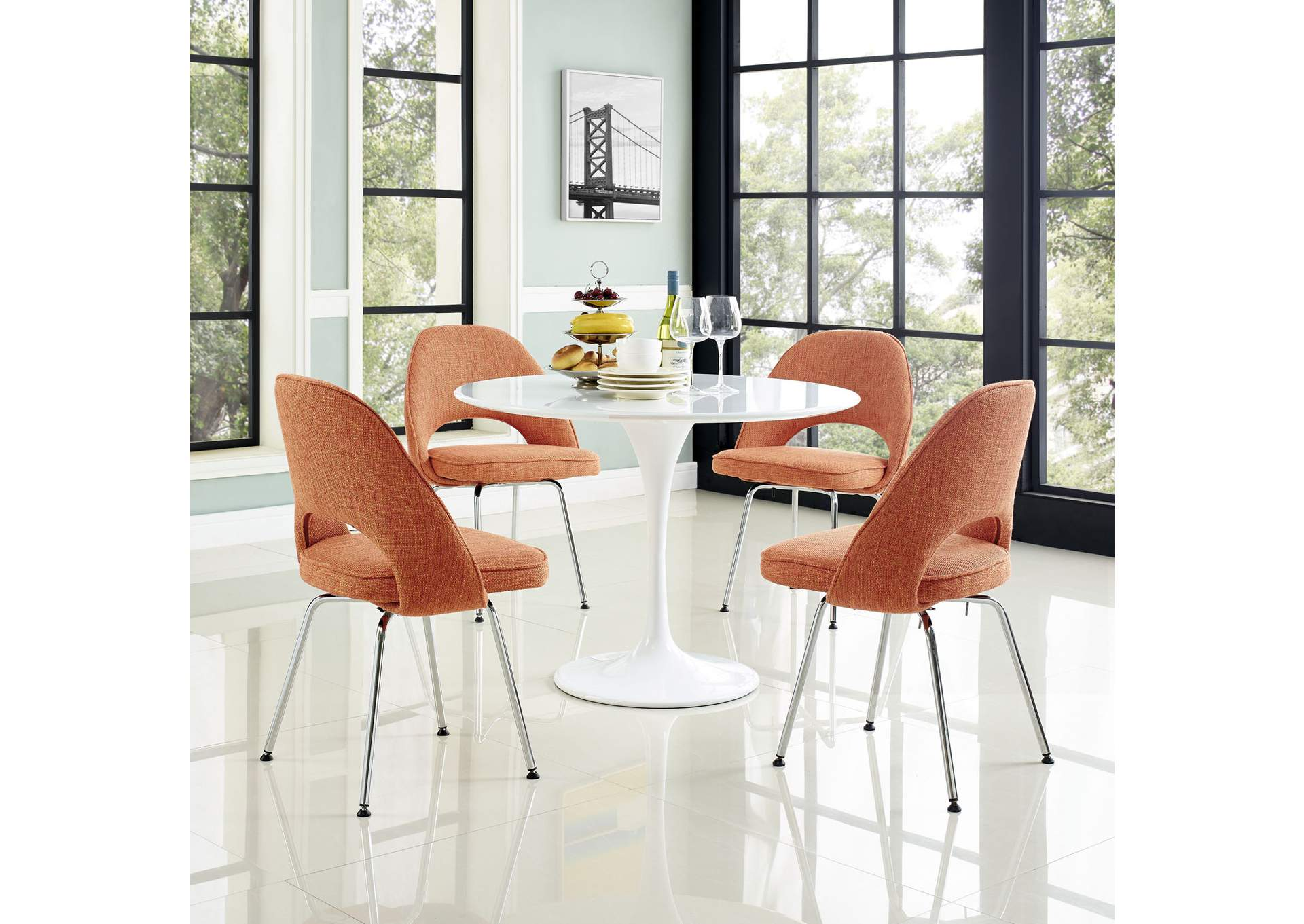 Cordelia Orange Dining Chairs [Set of 4],Modway