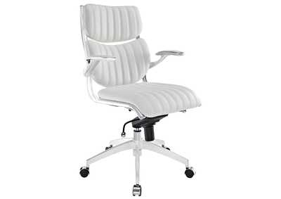 Image for Escape White Mid Back Office Chair
