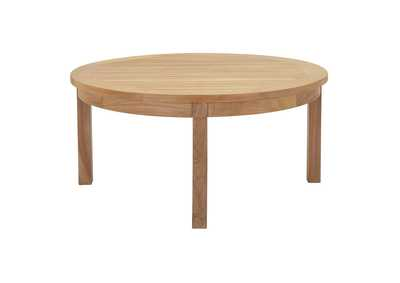 Image for Marina Natural Outdoor Patio Teak Round Coffee Table