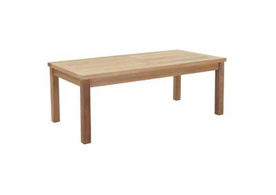 Image for Marina Natural Outdoor Patio Teak Rectangle Coffee Table