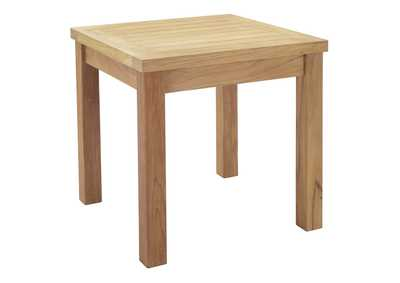 Image for Marina Natural Outdoor Patio Teak Side Table