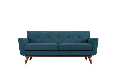 Image for Engage Azure Upholstered Fabric Loveseat
