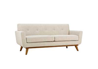 Image for Engage Beige Upholstered Fabric Loveseat