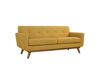 Image for Engage Citrus Upholstered Fabric Loveseat