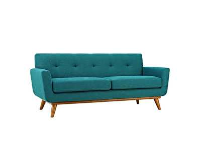 Image for Engage Teal Upholstered Fabric Loveseat