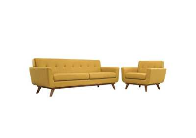 Image for Engage Citrus Armchair and Sofa [Set of 2]