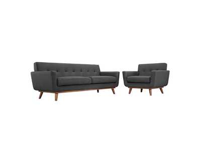 Image for Engage Gray Armchair and Sofa [Set of 2]