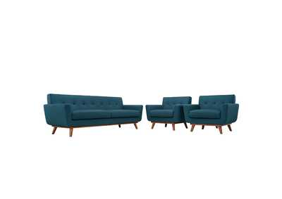 Image for Engage Azure Blue Armchairs and Sofa Set of 3