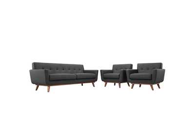 Image for Engage Gray Armchairs and Sofa Set of 3