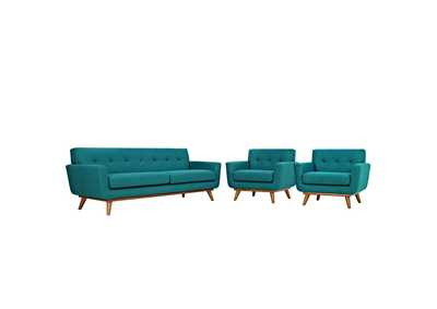 Image for Engage Teal Armchairs and Sofa Set of 3