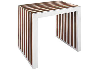 Image for Gridiron Walnut Small Wood Inlay Bench